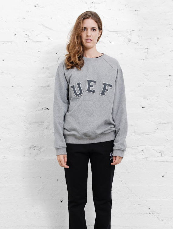 UEF O-neck Sweater smoke grey