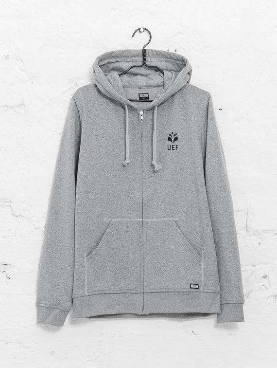 UEF Slim-Fit Hoodie smoke grey